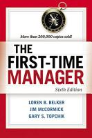 The First Time Manager PDF