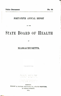 Annual Report of the State Board of Health of Massachusetts PDF