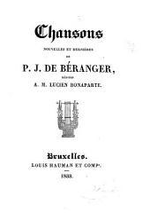 Chansons nouvelles et dernières: dédiées à M. Lucien Bonaparte. Tome troisième