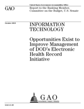 Information Technology: Opportunities Exist to Improve Management of DoD's Electronic Health Record Initiative