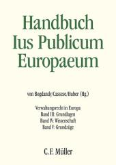 Ius Publicum Europaeum: Verwaltungsrecht in Europa