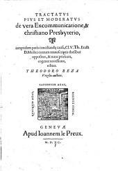 Tractatus pius et moderatus de vera excommunicatione et christiano presbyterio