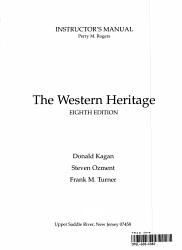 Kagan The Western Heritage Since 1300 Book PDF