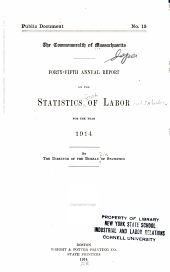 Annual Report on the Statistics of Labor: Volume 45