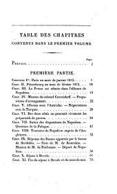Manuscit de mil huit cent douze: contenant le précis des événemens de cette année, pour servir à l'histoire de l'empereur Napoléon, Volume1