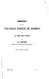 Mémoire sur une nouvelle espèce de Ziphius de la Mer des Indes