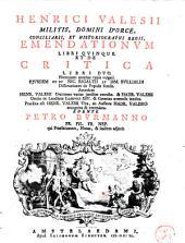 Emendationum libri quinque et de critica libri duo
