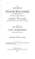 The Descendants of Veach Williams  of Lebanon  Conn PDF