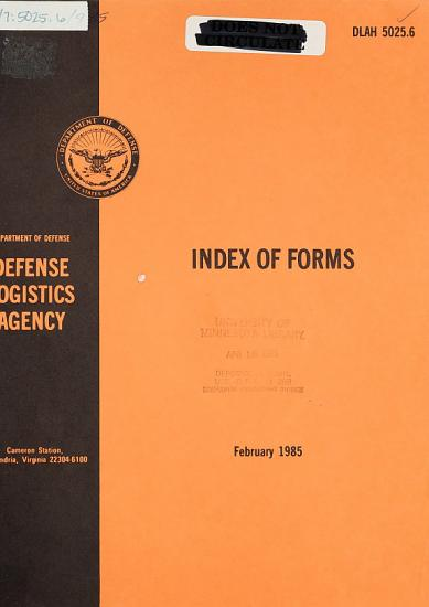 Index of Forms PDF
