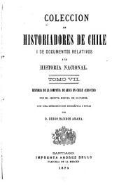 Coleccíon de historiadores de Chile y documentos relativos a la historia nacional: Volumen 7