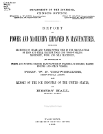 Tenth Census of the United States, 1880: Power and machinery