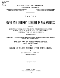 Tenth Census of the United States  1880  Power and machinery PDF