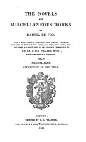 Life of Colonel Jack  And  a True Relation of the Apparetion of One Mrs  Veal PDF