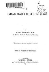 The Grammar of Science: Volume 20