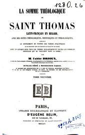 La Somme théologique de Saint Thomas: Volume9