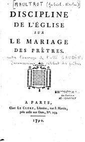 Discipline de l'église sur le mariage des prêtres