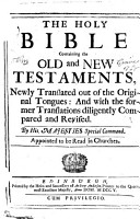 The Holy Bible Containing the Old and New Testaments  Etc PDF