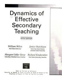 Dynamics of Effective Secondary Teaching PDF