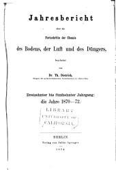 Jahresbericht fur Agrikultur-Chemie: Bände 13-15