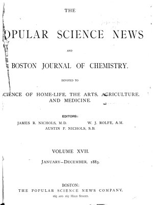 The Popular Science News and Boston Journal of Chemistry PDF