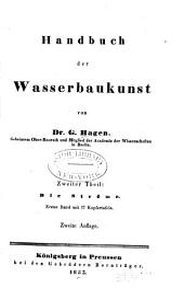 Handbuch der Wasserbaukunst: Teil 2,Bände 1-2