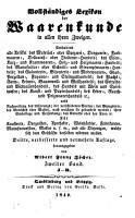 Vollst  ndiges Lexikon der Waarenkunde in allen ihren Zweigen PDF