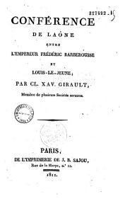 Conférence de Laône entre l'empereur Frédéric Barberousse et Louis-le-Jeune