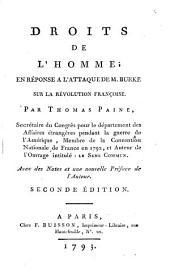 Droits de l'homme: en réponse a l'attaque de M. Burke sur la révolution françoise, Volume1