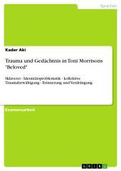 """Trauma und Gedächtnis in Toni Morrisons """"Beloved"""": Sklaverei - Identitätsproblematik - kollektive Traumabewältigung - Erinnerung und Verdrängung"""