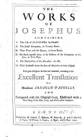 The Works of Josephus     With Great Diligence Revised and Amended  According to the Excellent Translation of Monsieur Arnauld D Andilly  And Compared with the Original Greek  Illustrated with a New Map of the Holy Land  and Divers Other Sculptures PDF