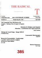 The Radical Humanist PDF
