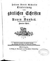 Johann David Michaelis Einleitung in die göttlichen Schriften des neuen Bundes