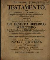 Dispvtatio Jvridica De Testamento