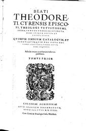 Opera: In Duos Tomos Distincta, Volume 1