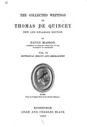 The Collected Writings of Thomas De Quincey: Historical essays and researches