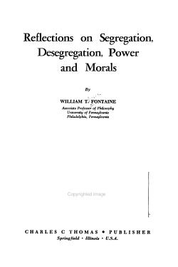 Reflections on Segregation  Desegregation  Power and Morals PDF