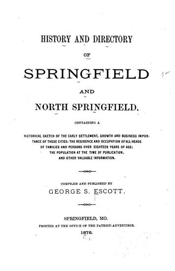 History and Directory of Springfield and North Springfield PDF