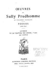 Oeuvres de Sully Prudhomme ...