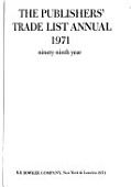 The Publishers Trade List Annual