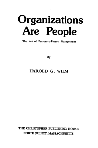 Organizations are People Book