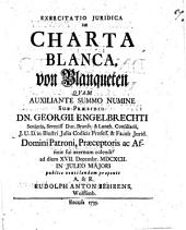 Exercitatio iur. de charta blanca, von Blanqueten