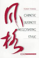 Chinese Business Negotiating Style PDF