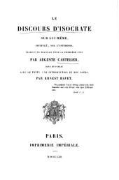 Le discours d'Isocrate sur lui-même, intitulé sur l'antidosis