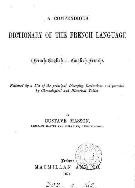 Download A compendious dictionary of the French language Book