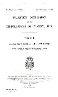 Palestine Commission on the Disturbances of August  1929