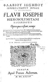 Phlabiou Iôsêpou Hierosolymitou hiereôs Ta euriskomena