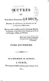 Ouevres de Ponce Denis (Écouchard) Lebrun ...