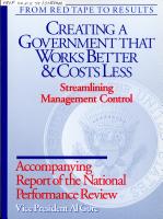 Streamlining Management Control PDF