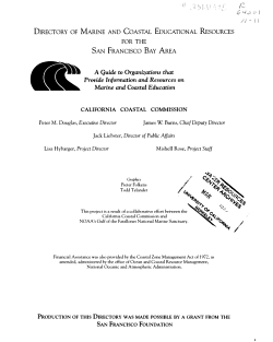 Directory of Marine and Coastal Education Resources for the San Francisco Bay Area PDF