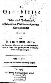 Die Grundsätze des Natur- und Völkerrechts, des allgemeinen Staats- und allgemeinen bürgerlichen Rechts: Band 2